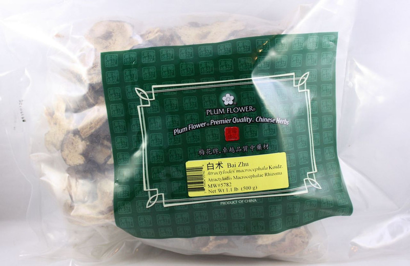 White Atractylodes Root / Rhizome (Bai Zhu) Plum Flower, Cut form 1lb