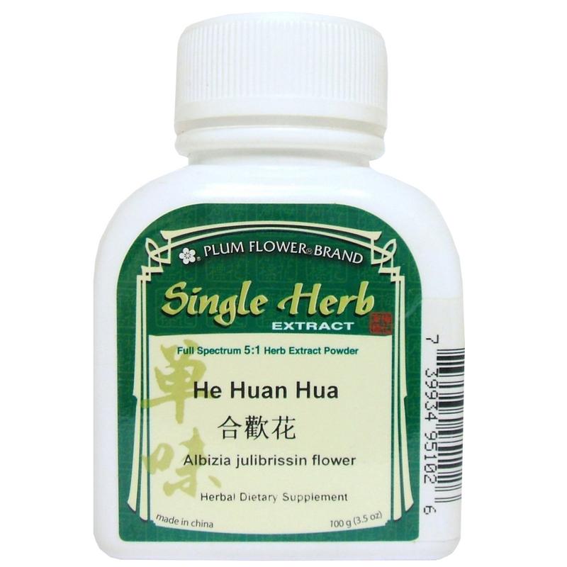 Albizzia/Albizia Flower (He Huan Hua) Plum Flower Powdered Concentrate Form 100 gram bottle