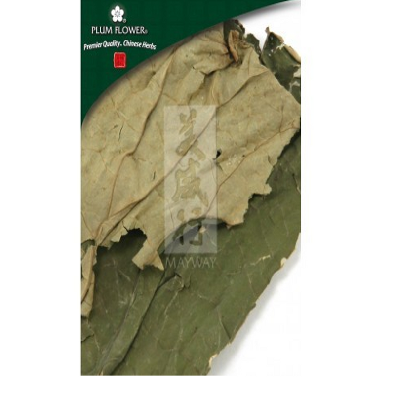 Nelumbo nucifera leaf (He Ye) - Cut Form 250 gram bag - Plum Flower Brand