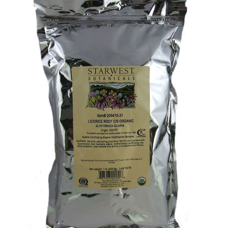 Licorice Root Certified Organic  - Gan Cao