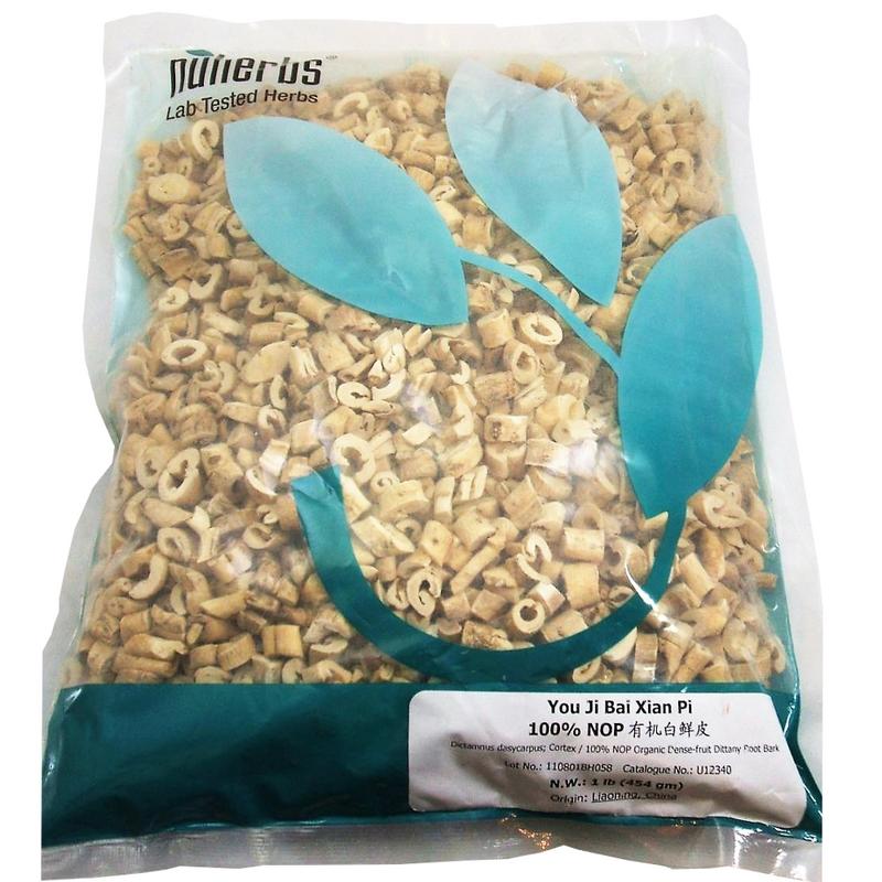 Dittany Root Bark (Bai Xian Pi) - Organic Pieces Form 1 lb. - Nuherbs Brand (U12340)