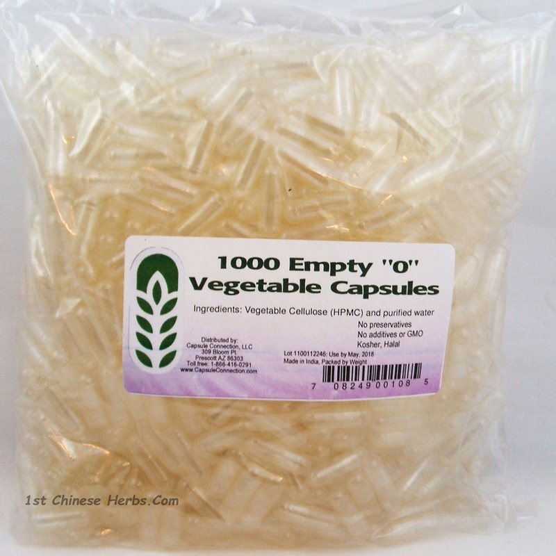 Vegetable capsules size 0