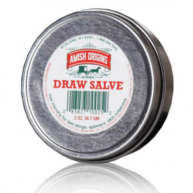 Amish Origins All Natural Salve 2 ounce tin.