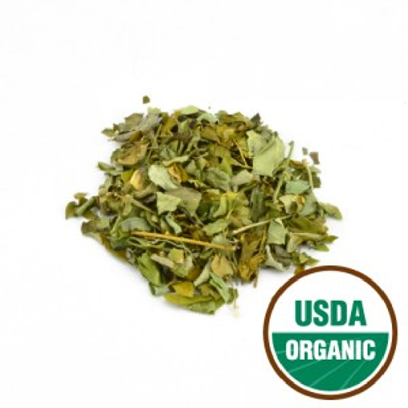Moringa Leaf Certified Organic Cut. Cardiovascular Protection and Diabetes: Moringa Leaf is helpful in the prevention of myocardial or cardiac damage, due to the presence of powerful antioxidants.   They exert anti-diabetic effects in the treatment of diabetes mellitus. Research studies conducted on this subject have provided supporting evidence that proves the antiperoxidative and cardio-protective effects of moringa therapy. Treatment with it helps in inhibiting the increase in lipid perioxidation in the myocardial tissue and aids in maintaining a healthy heart.