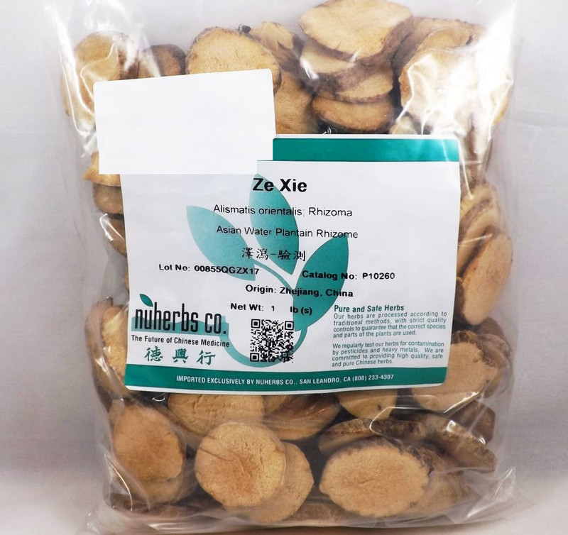 Alisma Asian Water Plantain Rhizome (Ze Xie) - Lab Tested 1 lb - Nuherbs