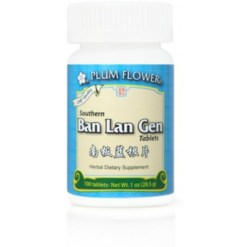 Ban Lan Gen Tablets in a bottle by Plum Flower
