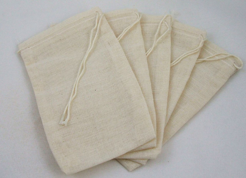 3 x 5 inch approx Culinary Muslin Bags 5 pack