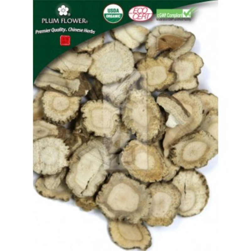 Organic Bai Zhi, Also known as Angelica Dahurica Root, sliced form