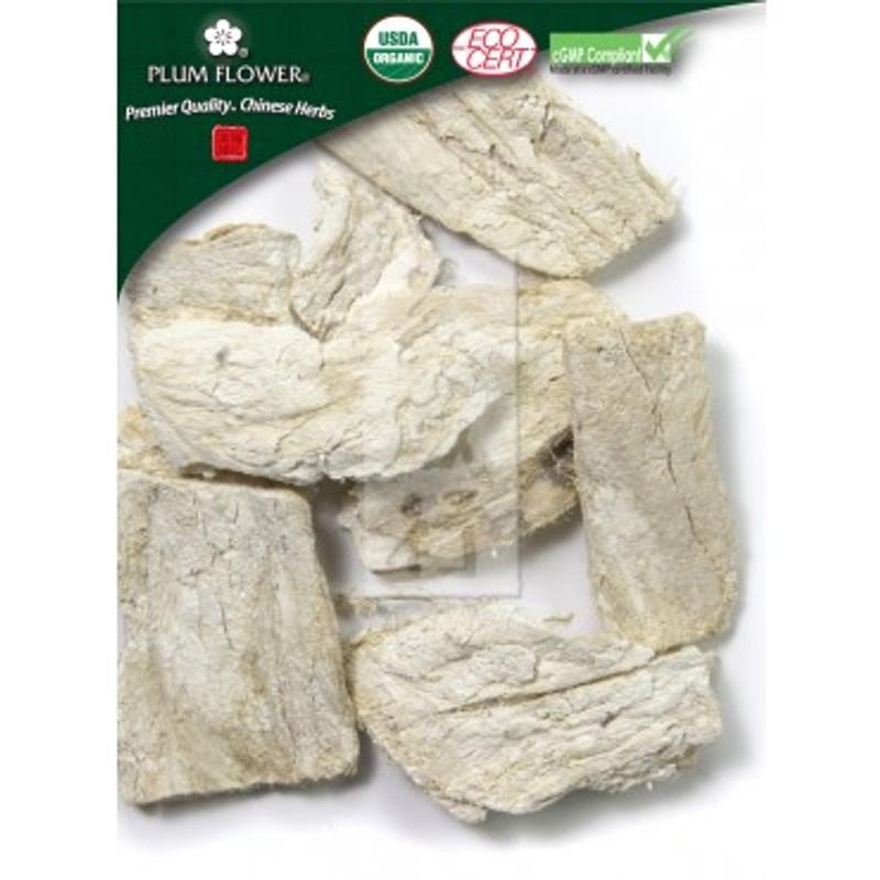 Certified Organic Ge Gen - Pueraria lobata - Kudzu, sliced root by Plum Flower Ge Gen, unsulfured  Certified Organic  Pueraria lobata root Plum Flower®500 g/bag