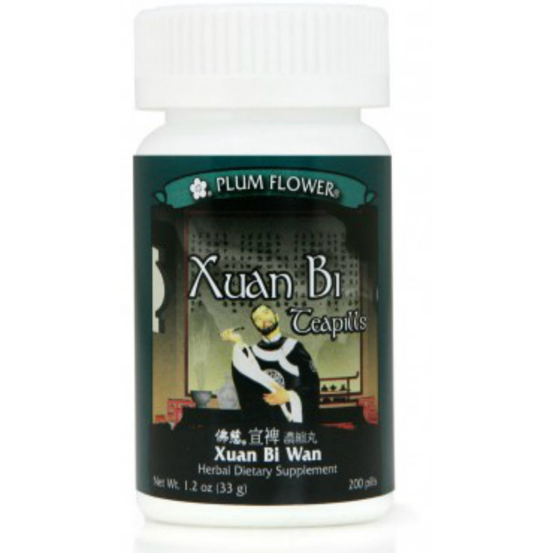 Drain Away Obstruction Teapills (Xuan Bi Tang Wan) - 200 Pills/Bottle - Plum Flower Brand