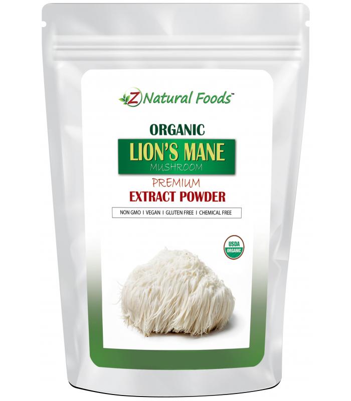 Organic Lion's Mane Mushroom Extract Powder - Z natural foods 4 oz.