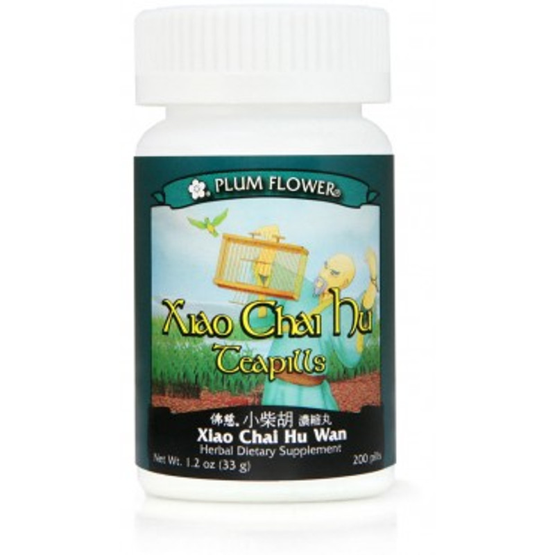 Minor Bupleurum Teapills (Xiao Chai Hu Wan) - 200 Pills/Bottle - Plum Flower Brand