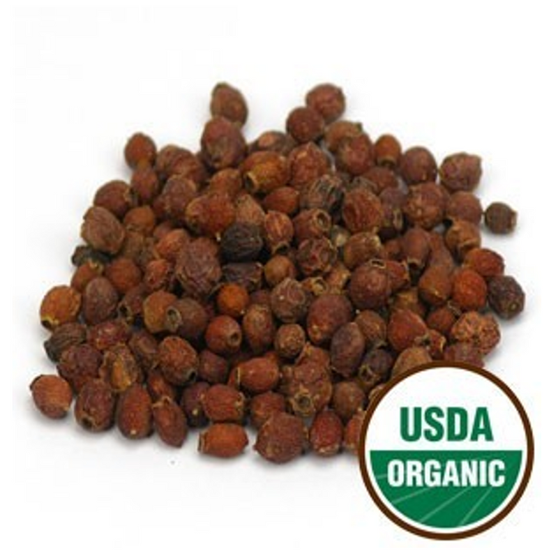 Hawthorn Berries Certified Organic Whole Form, Starwest brand 1 lb