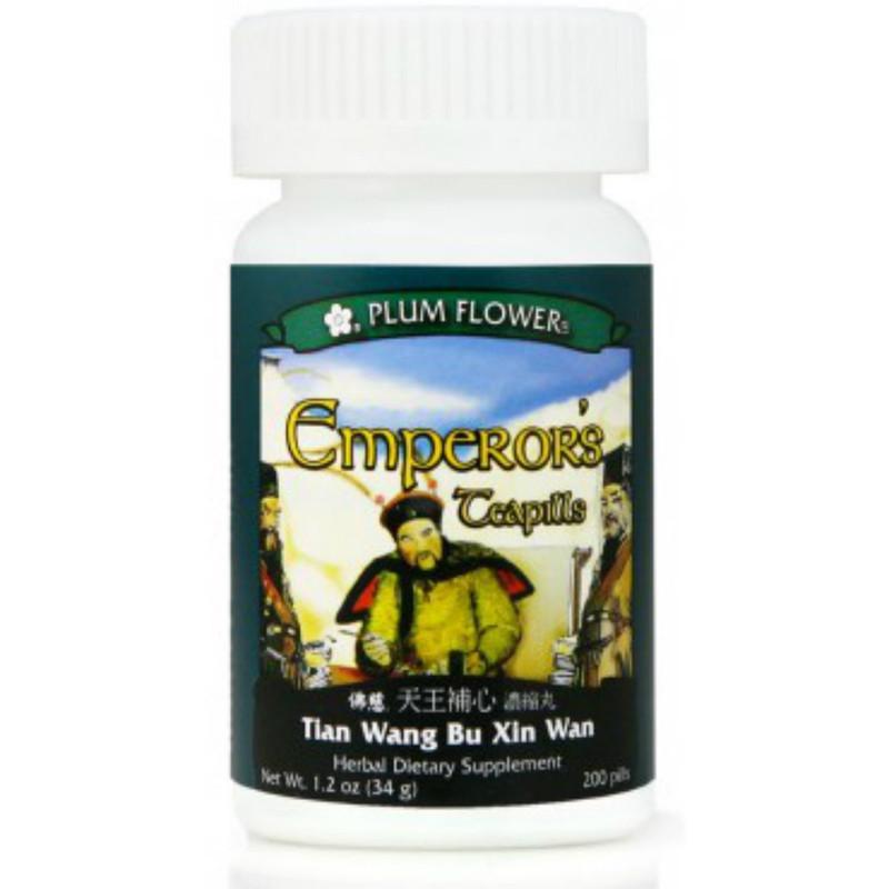 Emperor's Teapills (Tian Wang Bu Xin Dan Wan) - 200 Pills/Bottle - Plum Flower Brand