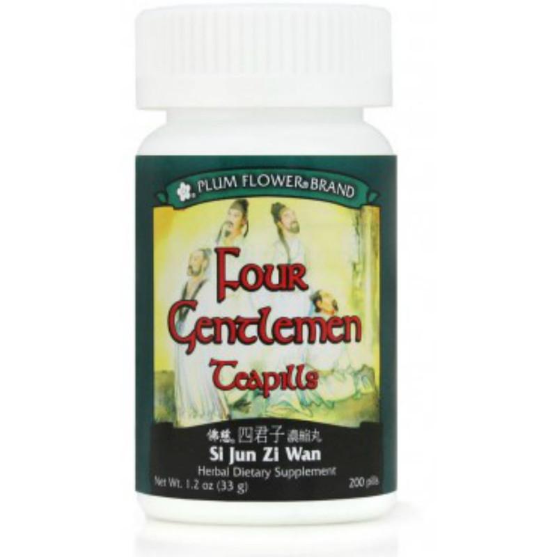 Four Gentlemen Teapills (Si Jun Zi Tang Wan) - 200 Pills/Bottle - Plum Flower Brand
