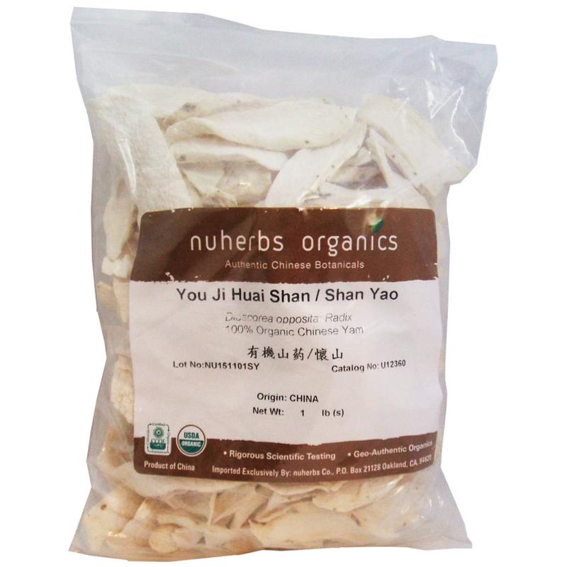 Chinese Yam Root/Dioscorea (Shan Yao / Huai Shan) - Certified Organic Cut Form 1 lb - Nuherbs Brand
