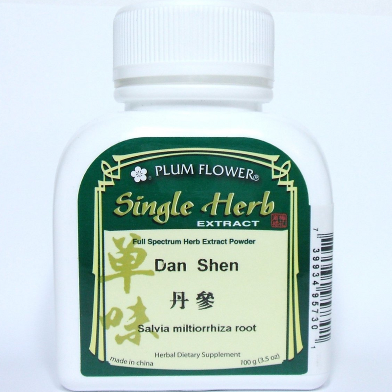 Dan Shen - Salvia / Red Sage Root Concentrated Powder, Plum Flower brand 100 gram bottle