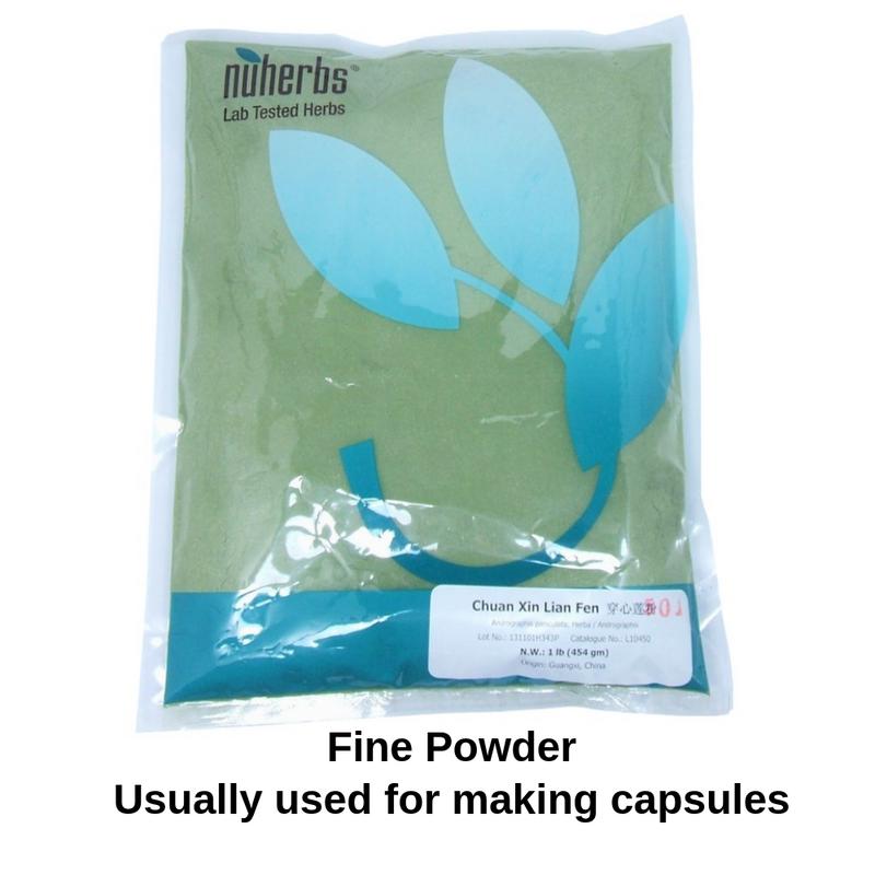 Andrographis Paniculata Herba - Chuan Xin Lian - 1 pound of Powder - Nuherbs brand