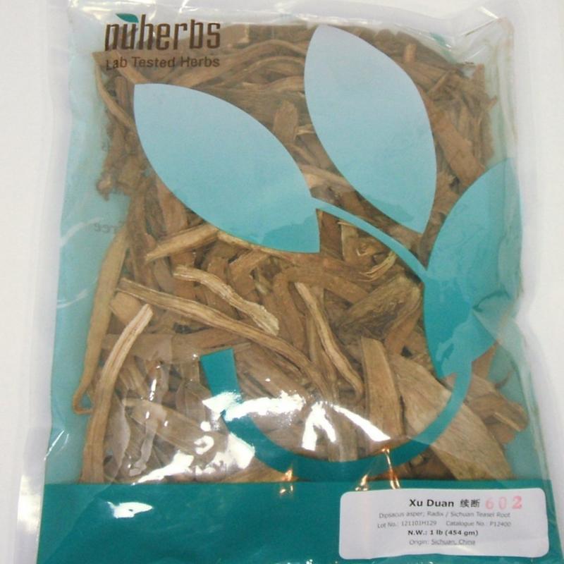 Teasel Root (Xu Duan) - Cut Form 1 lb. - Nuherbs Lab-Tested