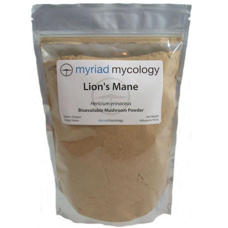 Lion's Mane (Hou Tou Gu) Myriad Mycology Mushroom Powder 1 lb