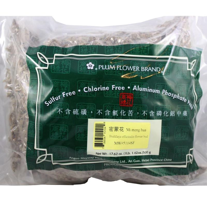 Buddleja or Buddleia Flower Bud (Mi Meng Hua) Plum Flower brand, cut / whole form 1lb