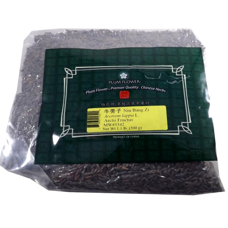 Arctium, Burdock Seed, Niu Bang Zi - Whole  1 lb - Plum Flower