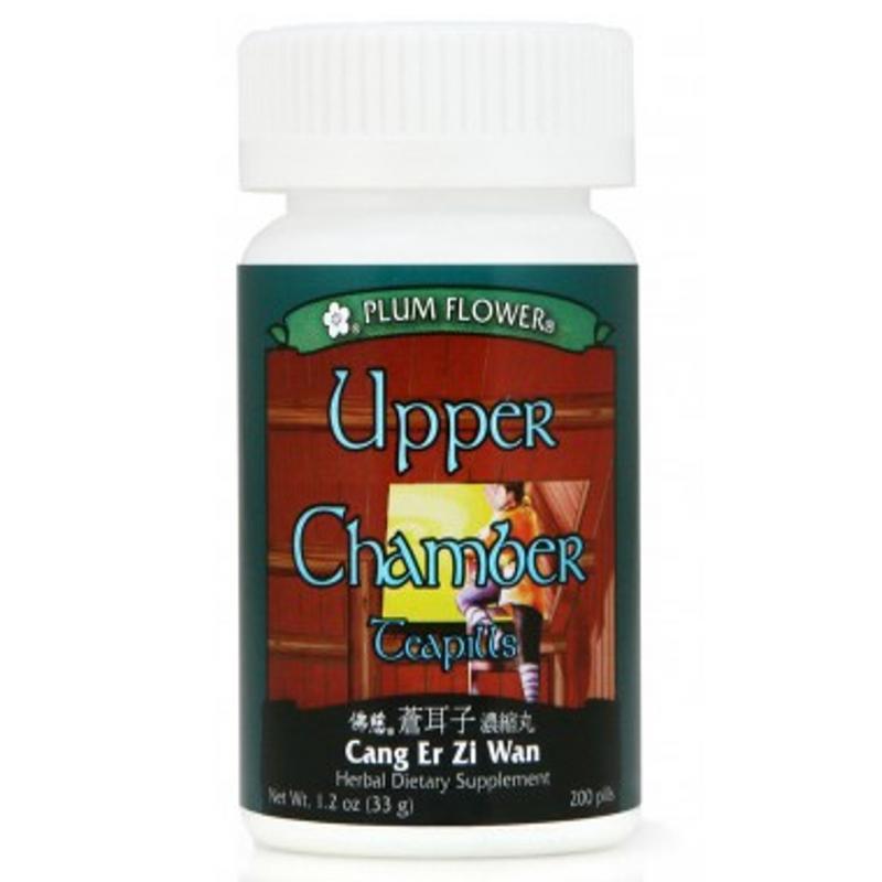 Upper Chamber Teapills (Cang Er Zi Wan) - 200 Pills/Bottle - Plum Flower Brand