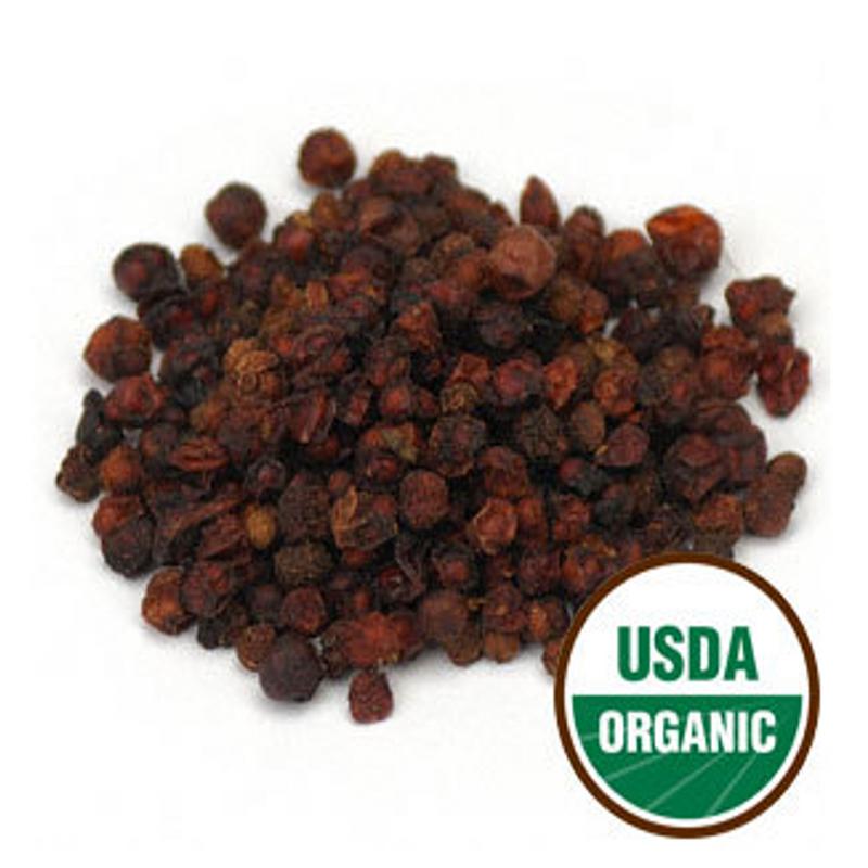 Schisandra Fruit (Wu Wei Zi) - Organic Whole Form 1 lb. - Starwest Botanicals Brand