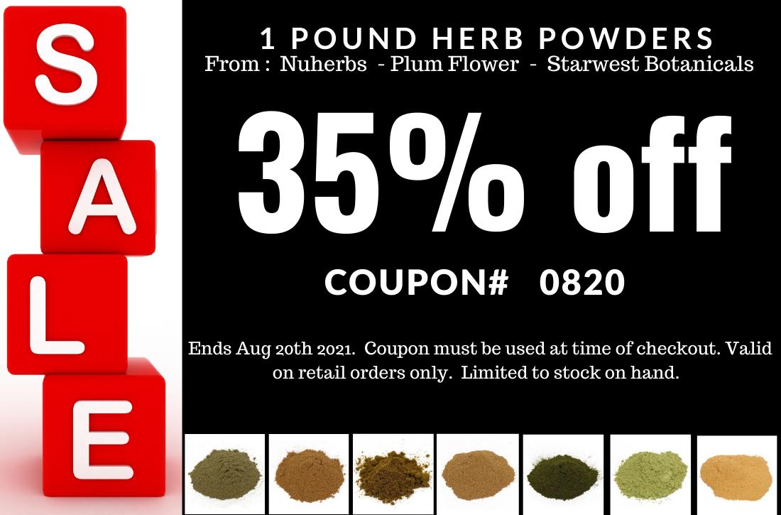 sale on powdered herbs