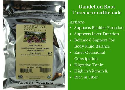 dandelion root, flower, cut, starwest botanicals, traditional bulk herbs, bulk tea, bulk herbs, teas, medicinal bulk herbs