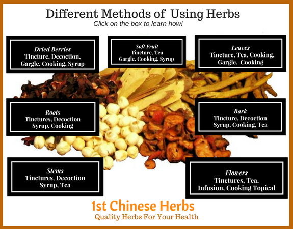 how to use cut herbs, how to use whole herbs, decotions, hearbal teas, herbal tinctures, herbal extracts, herbal gargles, herbal syrups, cooking with herbs