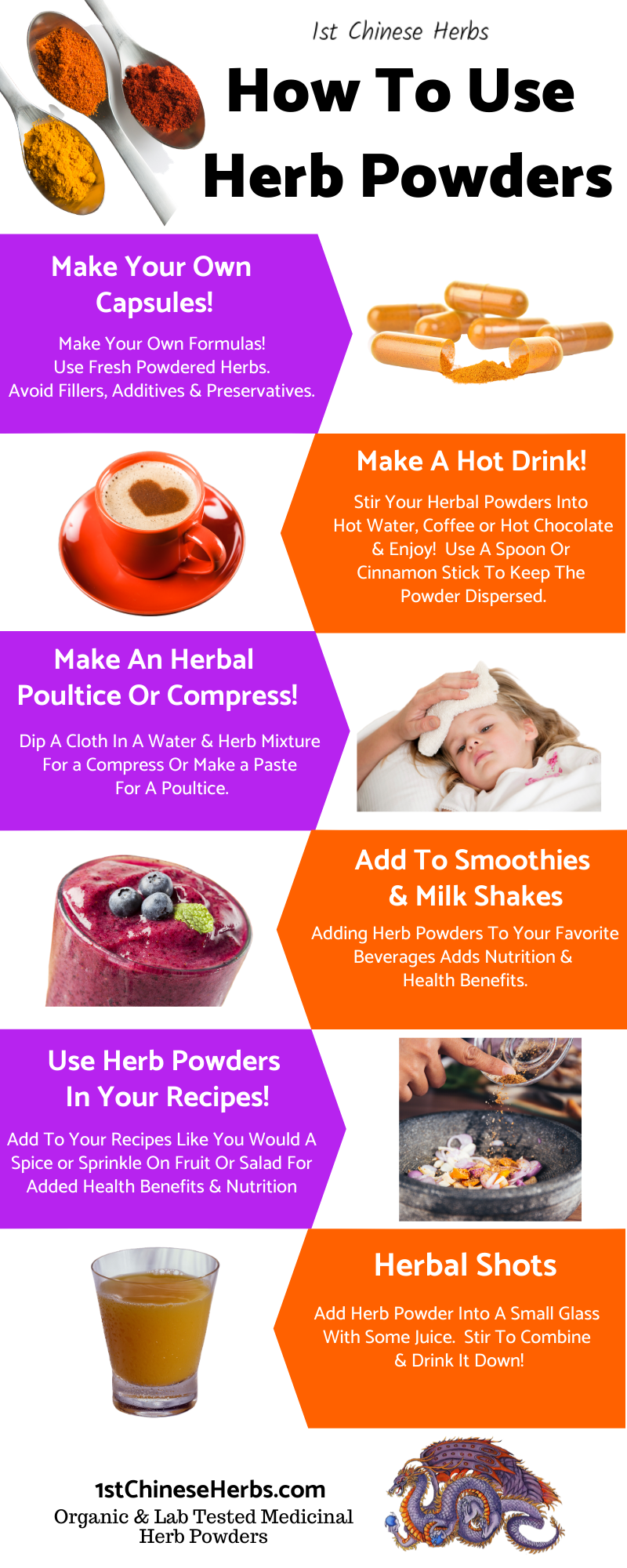 how to use powdered herbs, how to use medicinal herb powders, how to get therapeutic doses of herb powders.