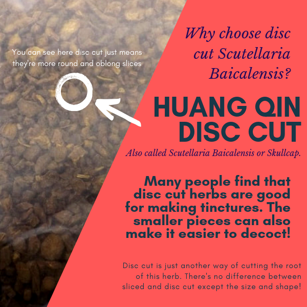 huang qin, skullcap, scullcap, skullcap root, huang, qin, scutellaria baicalensis, scutellaria baicalensis root, disc cut, different cut, sliced, round, oblong, tincture, herbal tincture, herbal tea, herb tea, how to make tinctures, how to make herbal tincture, herbal decoctions, herb decoction, how to make a decoction, how to make an herbal decoction, natural herbs, chinese herbs, chinese medicinal herbs, tcm, traditional chinese medicine,