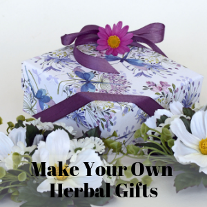 A picture of an herbal gift. Give the gift of health with an herbal gift which could be just an herbal tea but could also be homemade herbal soap, herbal facewash, herbal potpourri, herbal body scrub, and many more.