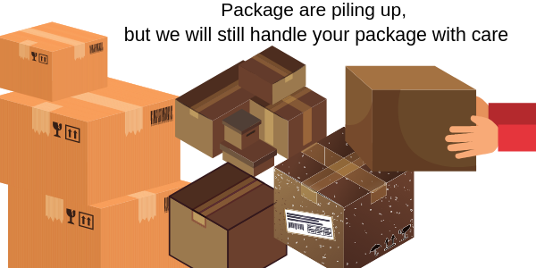 Tracking your package.  Mailing on Time.