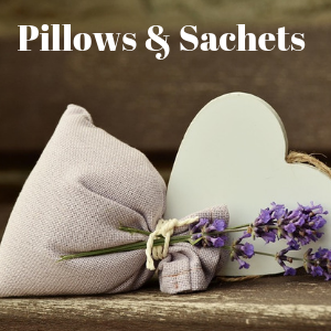 A pillow also called a sachet decorated and filled with lavender. Herbal pillows and herbal sachets make great gifts and also can help ease one to sleep by using herbs to help you sleep.
