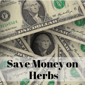 Rows of dollars you could save when you try these money saving tricks. Save money on herbs and use your herbs more effectively in your herbal formulas, herbal teas, herb capsules, and herbal products.