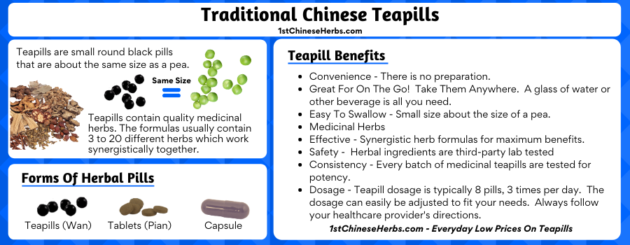 teapill size, what are teapills, what are teapills made of, Chinese teapills, herbal pills