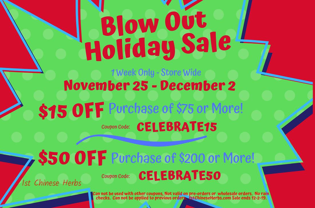 Huge Sale, Thanksgiving Day Sale, Black Friday Sale, Cyber Monday Sale, Huge herb sale, monster sale
