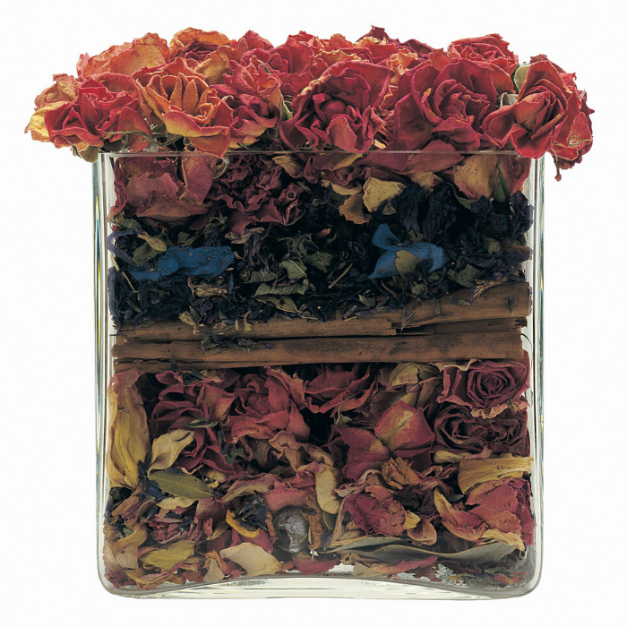 container of potpourri, citrus potpourri basket, herbal potpourri, aroma therapy potpourri