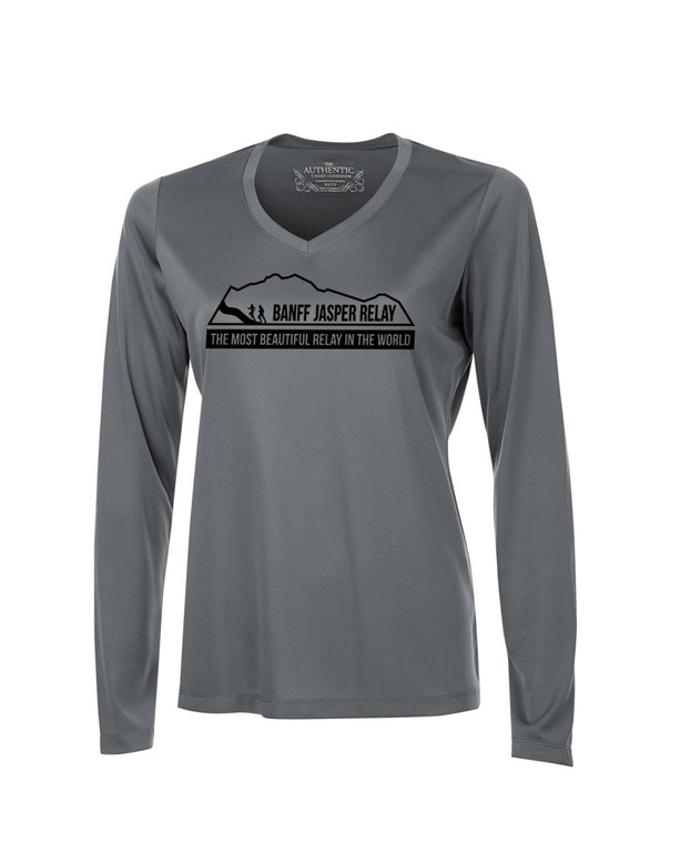 BJR Pro Team Long Sleeve V-Neck Ladies' Dri-Fit Shirts