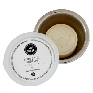 Valor Organics Shaving Soap | Woodsman: woodsy with sweet notes