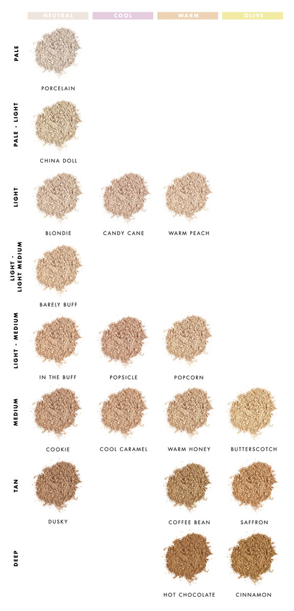 Lily Lolo Foundation shade comparison