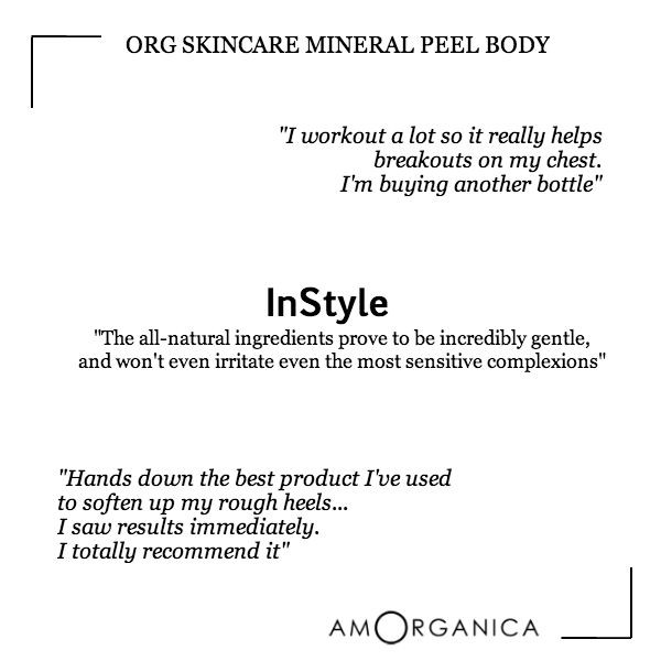 ORG Skincare Organic Mineral Peel Body