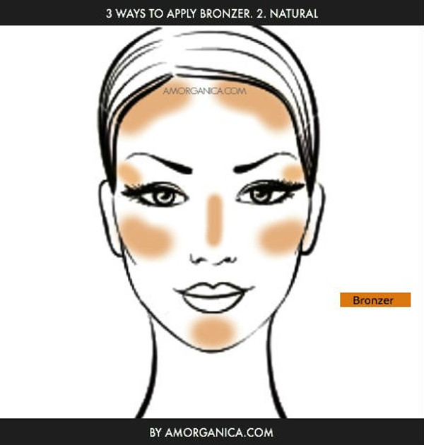 How to apply bronzer by amorganica.com 2