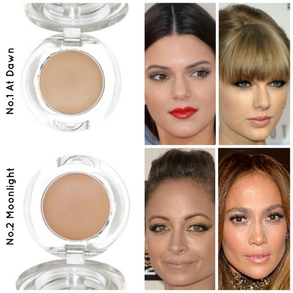 Studio 78 concealer skin colour match for No.1 and No.2