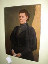 Victorian Oil Of Scottish Lady