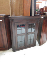 Oak corner unrestored cupboard