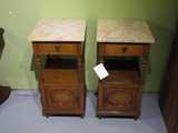 French oak pair of bedside cupboards
