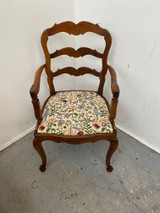 Superb French walnut ladder back chair in excellent condition